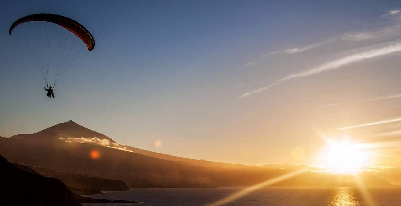 Tenerife_Teide Paragleiter